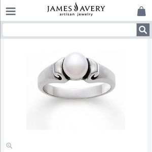 Pearl Scroll James Avery Ring - great condition ❤️
